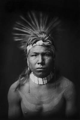 Indian Of North America Circa 1905 Print by Aged Pixel