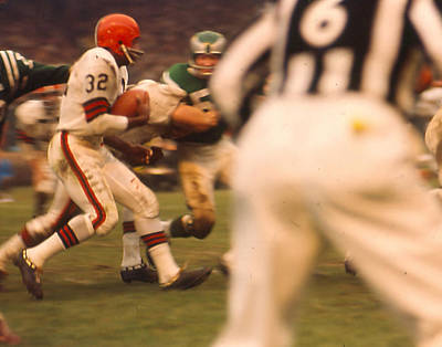 Jim Brown Print by Retro Images Archive