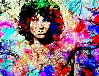 Super Stars Painting - Jim Morrison by Bogdan Floridana Oana