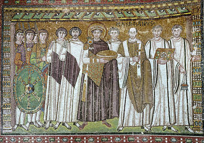 Byzantine Painting - Justinian I (483-565) by Granger