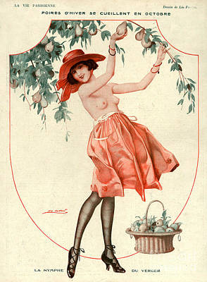 10s Drawing - La Vie Parisienne 1918 1910s France Leo by The Advertising Archives