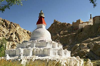 Religious Art Photograph - Ladakh, India Religious Structures by Jaina Mishra