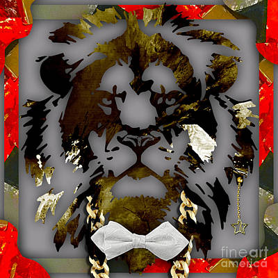 Cats Mixed Media - Lion Collection by Marvin Blaine