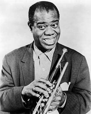 Louis Armstrong (1900-1971) Print by Granger