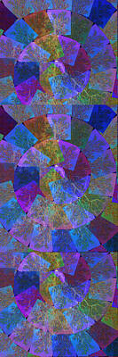 Healing Mixed Media - Magic Marbles Marvellous Colorful Pattern Spiral Sparkle Wonderland Kidsroom School Nursary Daycare  by Navin Joshi