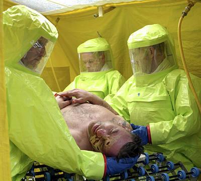 Terrorism Photograph - Major Emergency Decontamination Training by Public Health England