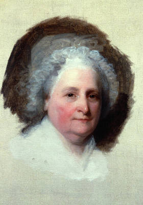 American First Lady Painting - Martha Washington (1731-1802) by Granger
