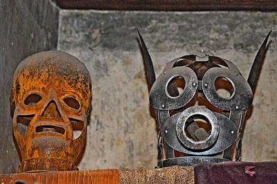 Masks Medieval Inquisition. Next To Charles Bridge. Prague. Czech Republic. Print by Andy Za