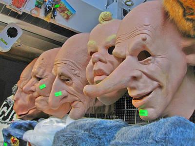 Masks. Next To Charles Bridge. Prague. Czech Republic. Print by Andy Za