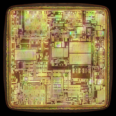 Microchip Print by Ktsdesign