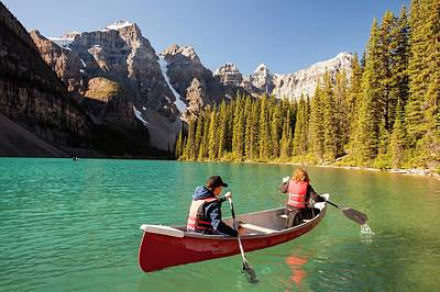 Moraine Lake In The Canadian Rockies Print by Ashley Cooper
