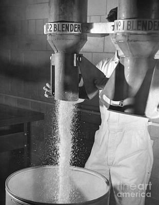Nylon Production, 1950s Print by Hagley Archive