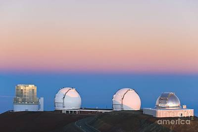 Mauna Kea Photograph - Observatories On Summit Of Mauna Kea by David Nunuk