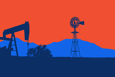 Oklahoma City Thunder Print by Joe Hamilton