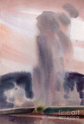 Wyoming Painting - Old Faithful by Donald Maier