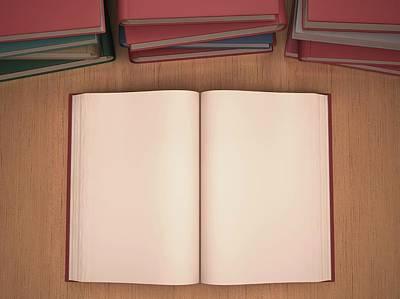 Open Book Print by Ktsdesign