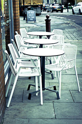 Empty Chairs Photograph - Outside Cafe by Tom Gowanlock