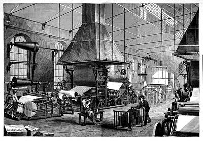 Paper Mill Print by Science Photo Library