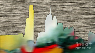 Philadelphia Skyline Mixed Media - Philadelphia Skyline by Marvin Blaine