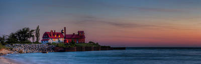 Crystal Photograph - Point Betsie Sunset by Twenty Two North Photography