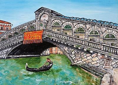 Realism Mixed Media - Ponte Di Rialto by Loredana Messina