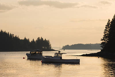 Coastal Maine Photograph - Port Clyde Maine Fishing Boats At Sunset by Keith Webber Jr