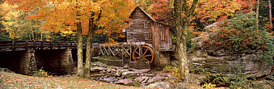 Old Log Cabin Photograph - Power Station In A Forest, Glade Creek by Panoramic Images