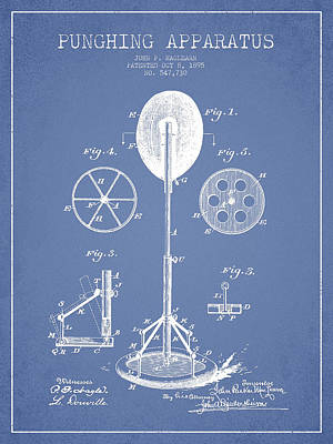 Punching Apparatus Patent Drawing From1895 Print by Aged Pixel