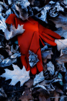 Red Gloves Print by Joana Kruse