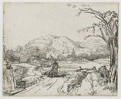 Rembrandt Landscape Sketch Print by Rembrandt