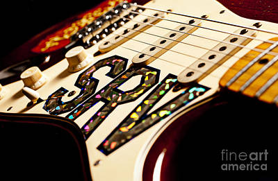 Mickey Mantle Photograph - Replica Stevie Ray Vaughn Electric Guitar Artistic by Jani Bryson