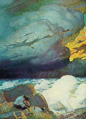 Cloudscape Drawing - Robinson Crusoe, 1920 by Granger