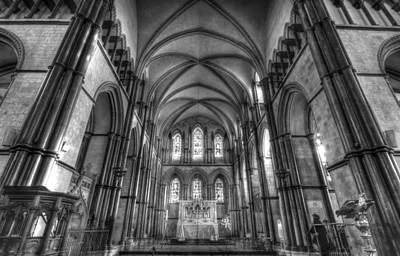 Rochester Cathedral Interior Hdr. Print by David French