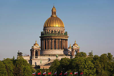 Russia, Saint Petersburg, Center, Saint Print by Walter Bibikow
