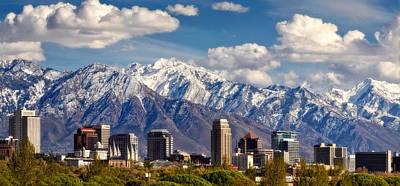 Salt Lake City Skyline Print by Utah Images