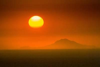 Santorini Sunset Print by Bjoern Kindler