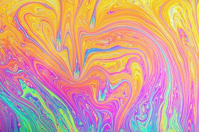 Soap Bubble Film Iridescence Print by Kym Cox