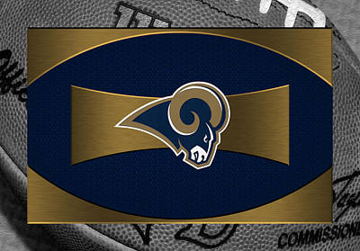 St Louis Rams Print by Joe Hamilton