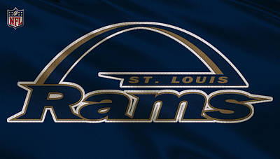 Ram Photograph - St Louis Rams Uniform by Joe Hamilton