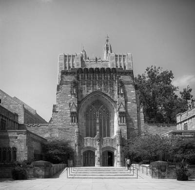 Entrance Memorial Photograph - Sterling Memorial Library - Yale University by Mountain Dreams