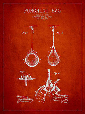 Striking Bag Patent Drawing From1891 Print by Aged Pixel