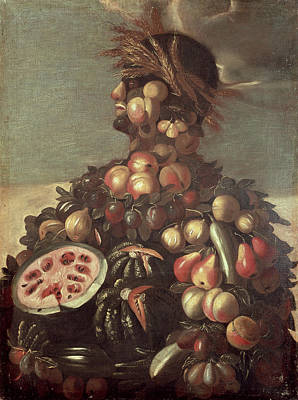 Watermelon Painting - Summer by Giuseppe Arcimboldo