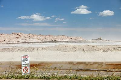 Tailings Pond At The Syncrude Mine Print by Ashley Cooper