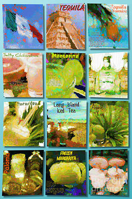 Tequila Digital Art - Tequila by Laura Toth