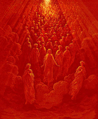 Dore Painting - The Angels In The Planet Mercury by Gustave Dore