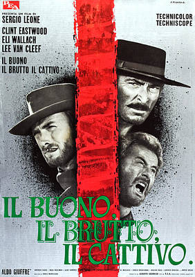 1960s Poster Art Photograph - The Good, The Bad And The Ugly, Aka Il by Everett