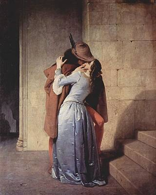 Hayez Painting - The Kiss by Mountain Dreams