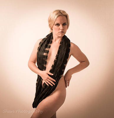 Nude Photograph - The Scarf by Shan Photography