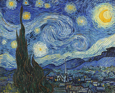 The Church Painting - The Starry Night by Vincent Van Gogh