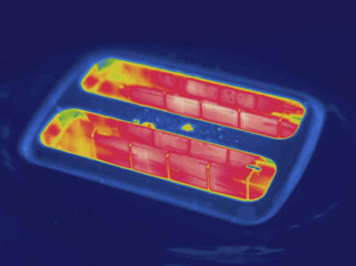 Toaster Photograph - Toaster, Thermogram by Science Stock Photography